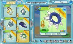 New Ocean Diamond Shops in Animal Jam Diamond Clothing, Diamond Shop, Animal Jam, Shops, Ocean, Animals, Shopping, Art, Art Background
