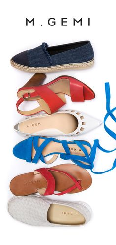 Get 4th of July ready with the perfect summer shoes in patriotic colors. Step on in.