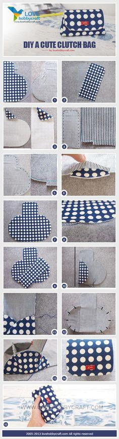 DIY a cute clutch bag