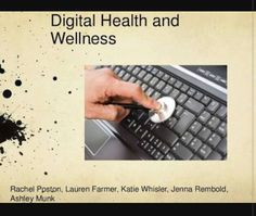 Digital Health and Wellness- physical and psychological well-being in a digital technology world. Psychological Well Being, Digital Citizenship, Health And Wellbeing, Digital Technology, Health Care, Side Effects, Manual, Google Search, Board