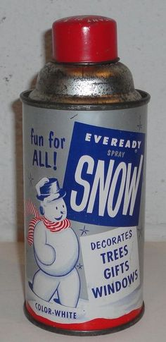 1950's Christmas Tree Spray Snow...we used this with stencils to decorate the windows!