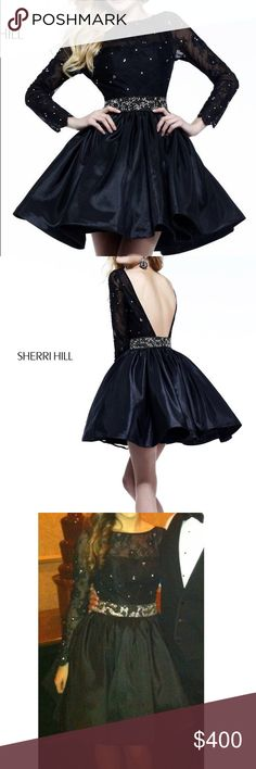 Sherri Hill Dress Sherry Hill Dress - Short - Lace sleeves - Only worn once basically brand new Sherri Hill Dresses