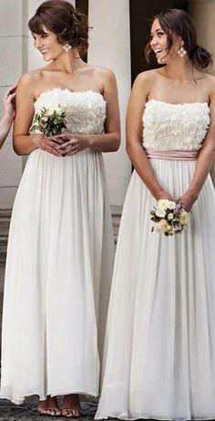 Scoop Cute Flower Long Bridesmaid Dresses Online, Cheap Bridesmaids Dresses, WG726#bridesmaids #bridesmaiddress #bridesmaiddresses #dressesformaidofhonor #weddingparty #2020bridesmaiddresses