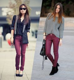 calça vinho Mais Style Casual, Casual Street Style, Casual Chic, Casual Looks, My Style, Fall Outfits, Casual Outfits, Cute Outfits, Fashion Outfits