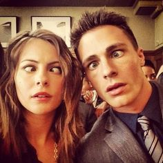 Colton Haynes and Willa Holand Selfie