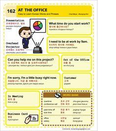 162 Learn Korean Hangul At The Office