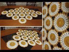 Motivo para caminho de mesa em crochê c/ pérolas Parte 1/2 - YouTube