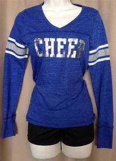 Royal Blue Cheer Varsity Long-sleeve Shirt by Empire Cheer, $25.00 #cheer #cheergear #cheerleading #sparkle