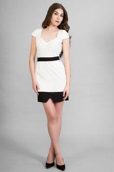Vestido blanco corto de invierno