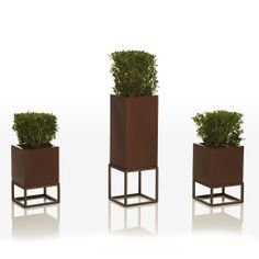 Pot made of polyethylene resin with double wall and lacquered finishing. www.mondocollection.com - Vela Planter, Call for Pricing (http://www.mondocollection.com/vela-planter/)