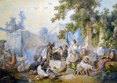 L'exposition Jean-Baptiste Huet au Musée Cognacq-Jay Cour de ferme