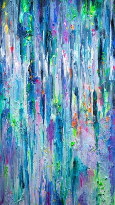Acrylic on canvas meditative piece. Inspired by silver rain. Original available -shop.tanyashatseva.com/product… Prints and more -society6.com/product/silver-ra… _________...