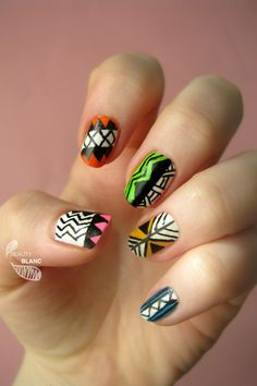 Ацтек нейл арт / Aztec nail art NEW video tutorial on BEAUTY BLANC!!  If you like this video, put me a thumbs up and don't forget to subscribe to my channel!))  http://youtu.be/lf0BnwGkzew