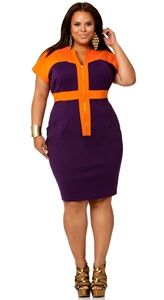 Colorblock done right - saw this today on the Monif C. Plus Sizes Spring 2012 Collection - awesome!!