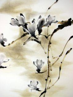 Tinta de pintura de tinta japonés arte asiático arte por Suibokuga