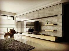 Modern Tv Units, Modern Tv Wall, Living Room Modern, Living Room Interior, Living Rooms, Tv Cabinet Design, Tv Wall Design, House Design, Modern Apartment Design