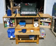 Chuck Box - Camp Kitchen - Downloadable PDF on the site for a small fee...  OR step-by-step instructions online.