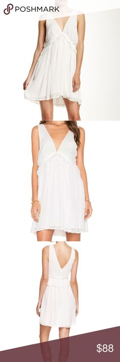 Free People rio grand empire dress New with tags, gorgeous white dress by Free People.  Flattering empire babydoll fit. Free People Dresses Mini