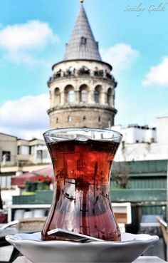 "Reflection of the Galata Tower Istanbul / TURKEY [ ""Start A Profitable Online Business Today! Turkish Spices, Turkish Tea, Istanbul City, Istanbul Travel, Turkey Facts, Empire Ottoman, Turkey Travel, Hagia Sophia, Bulgaria"