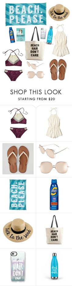 """""""Beach, please"""" by tara-hirneisen ❤ liked on Polyvore featuring Hollister Co., American Eagle Outfitters, Linda Farrow, Nordstrom Rack, Coppertone, Fallon & Royce and Casetify"""