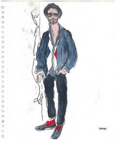 Fashion illustration - 'Richard Haines' blog focuses on the stylish men he sees around New York.', 2011.
