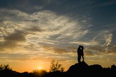Phoenix Engagement Photos in the Superstition Mountains by Philip Casey