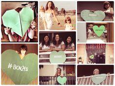 Collage de fotos con corazones verdes por la Tierra #PeoplesClimate #bcn21S
