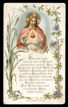 Heart Of Jesus, Jesus Is Lord, Vintage Holy Cards, Jesus Art, Jesus Lives, Jesus Pictures, Catholic Art, Prayer Cards, Prayer Warrior