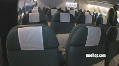 Explore Cathay Pacific's new Premium Economy Cabin aboard this Boeing 777! It's fancy.