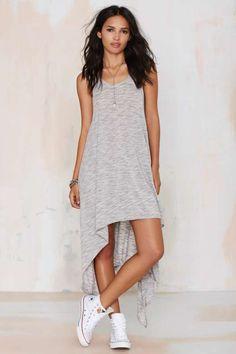 Ramblin' Ann High/Low Jersey Dress - Dresses
