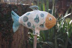 Gartenfiguren - Fisch Keramik - ein Designerstück von Konform-art bei DaWanda
