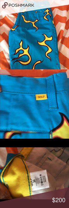 Vans syndicate old skool pro s golf wang black gum for Golf wang flame shirt