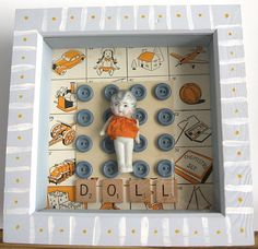 Buttons Doll ~ Shadow Box