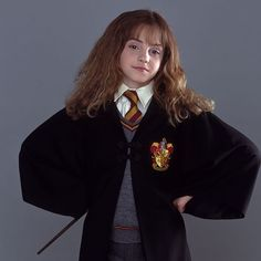 """""""I remember Emma's reading at our office, and she was extremely charming and adorable… She had Hermione's sense of humor; she was sharp as a whip for a ten-year-old girl. She was bright, and the camera loved her. We were all in agreement, all of us, that Emma was Hermione."""" - Chris Columbus #TBT #Throwback #HermioneGranger #HarryPotter @emmawatson"""
