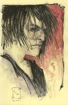 sketch of Dream (Morpheus) from Sandman by Michael Zulli