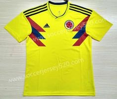 2018 World Cup Colombia Home Yellow Thailand Soccer Jersey AAA 731377b1a