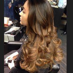 Caramel #Bayalage long curls