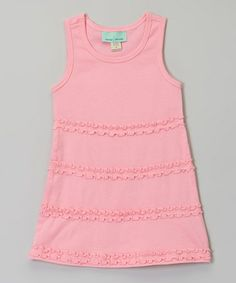 Another great find on #zulily! Bubble Pink Ruffle A-Line Dress - Infant, Toddler & Girls #zulilyfinds