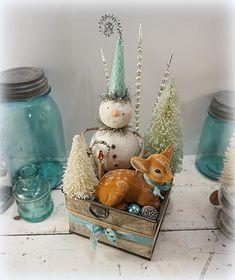Vintage Inspired Holiday Goods from Cat & Fiddle Studio Fine Folk Art…