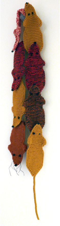 A scarf.  Knitted.  That looks like roadkill.  What more can I say, except that I wish I could knit.