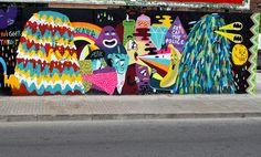 Mural by Paula Malarky, Mr.Fonti, Misterthefreak, and Faif.