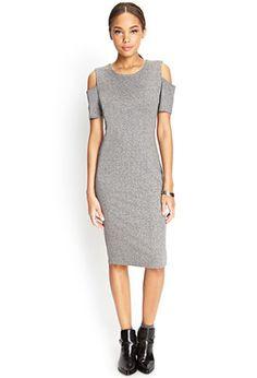 Cutout Marled Bodycon Dress