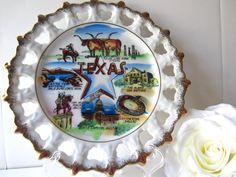 Vintage Texas Souvenir State Plate. $12.00, via Etsy.