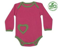 "Nino Bambino 100% Organic Cotton ""Lap Shoulder Onesie"" With Heart Patch Available For 499/- http://www.ninobambino.in/Bodysuit/Lap-Shoulder-Onesie-id-810661.html"