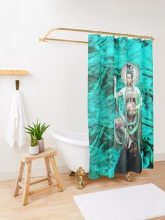 I have dreamed Kwan Yin Shower Curtain #ShowerCurtain Tub, Curtains, Shower, Bathroom, Rain Shower Heads, Washroom, Bathtubs, Blinds, Full Bath