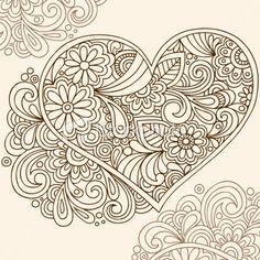 Mehndi heart pattern