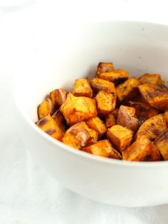 Simple Roasted Sweet Potatoes are easy to make, healthy, and delicious with any meal!