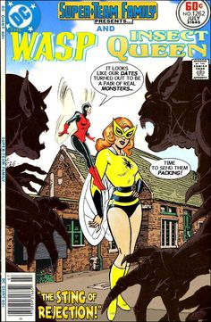 Super-Team Family: The Lost Issues!: The Wasp and Insect Queen Vintage Comic Books, Vintage Comics, Comic Books Art, Dc Comics Vs Marvel, Ace Comics, Supergirl, Batgirl, Marvel And Dc Crossover, Black Cat Marvel