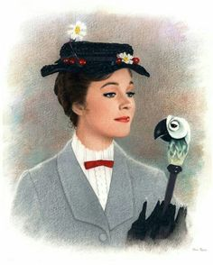 """Mary Poppins - """"Anything can happen if you let it."""" - - - she would be a stellar Halloween costume!"""