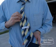 Men's neck tie pattern